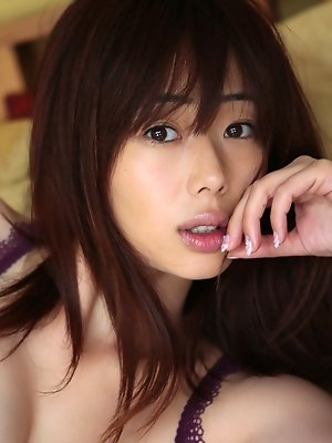 Waka Inoue Asian shows big hooters in kinkiest lingerie she has